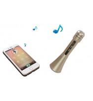 Karaoke Bluetooth con micrófono y altavoz